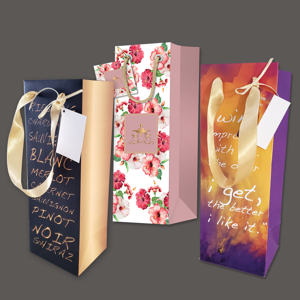Assorted Wine Bags